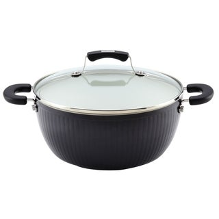 Paula Deen Savannah Collection Black Aluminum Nonstick 5.5-Quart Covered Casserole