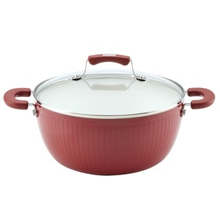 Paula Deen Savannah Collection Aluminum Nonstick 5.5-quart Red Covered Casserole