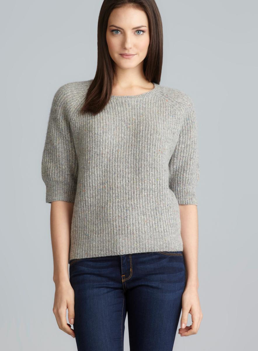 Short Sleeve Sweater With Long Sleeve Shirt Under - Cashmere ...
