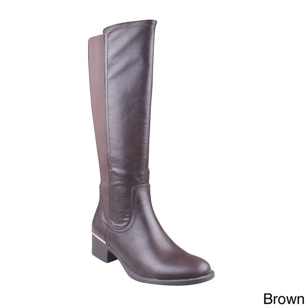 Refresh Women's 'Alto-01' Knee-high Riding Boots