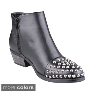 Refresh Women's 'Lucas-01' Studded Toe Ankle Boots