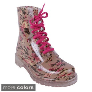 Jacobies Women's 'Rain-1' Mid-Calf Lace-up Rain Boots