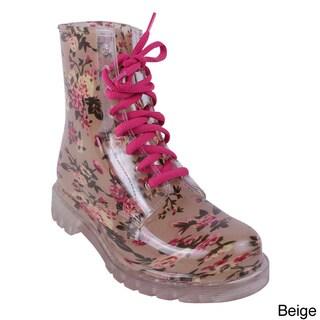 Jacobies Women's 'Rain-1' Mid-Calf Lace-up Rain Boots