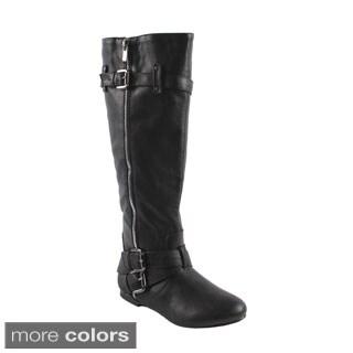 Bonnibel Women's 'Bianca-5' Almond Toe Knee-high Boots