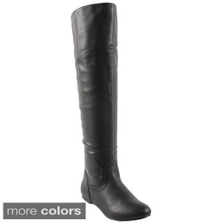Bonnibel Womens' 'Bianca-1N' Over-the-Knee Collar Boots