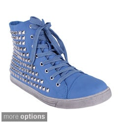 Yoki Women's 'Funky-33' High Top Studded Sneakers