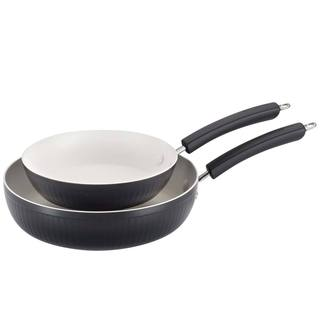 Paula Deen Savannah Collection Black Aluminum Nonstick Twin Pack 9-inch and 11.25-inch Skillets