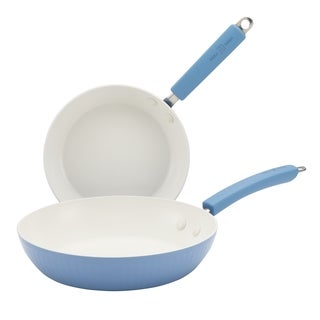 Paula Deen Savannah Collection Blueberry Aluminum Nonstick Twin Pack 9-inch and 11.25-inch Skillets