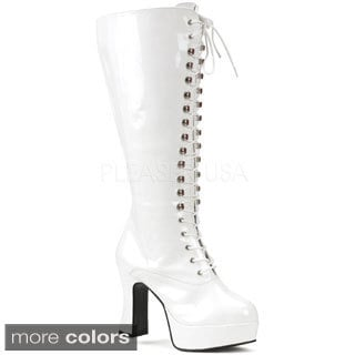 Funtasma Women's 'Exotica-2020X' Patent Leather Chunky Heel Gogo Boots