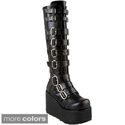 Demonia Women's 'Concord-108' Buckled Knee-high Boots