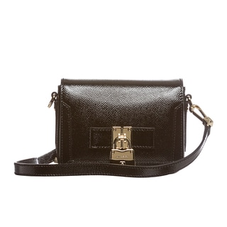 Burberry London Leather Berkeley Patent Crossbody Bag