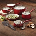 Paula Deen Savannah Collection Red Aluminum Nonstick 12-piece Cookware Set