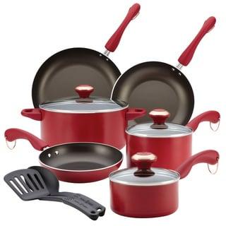 Paula Deen Signature Dishwasher Safe Nonstick 11-piece Red Cookware Set