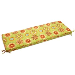 Blazing Needles Floral/ Stripe 54 x 19-inch Outdoor Spun Poly Bench Cushion