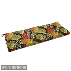 Blazing Needles Tropical/ Stripe 54 x 19-inch Outdoor Spun Poly Bench Cushion