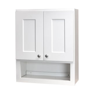 White Shaker Bathroom Wall Cabinet