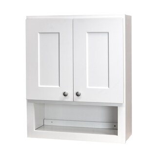 white shaker bathroom wall cabinet overstock shopping