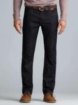 Seven7 Mens Pocket Detail Dark Denim Straight Leg Jeans