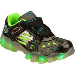 Boys' Skechers Super Hot Lights Street Lightz Black/Green