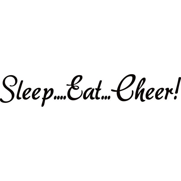 Design on Style Black 'Sleep?Eat?Cheer!' Vinyl Art Quote