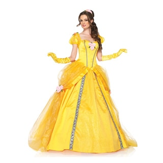 Leg Avenue Women's 2-piece Deluxe Yellow Princess Dress/ Head Piece