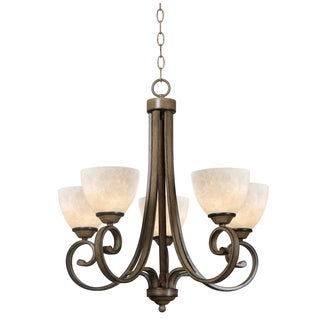 Reims 5-light Aruba Teak Chandelier