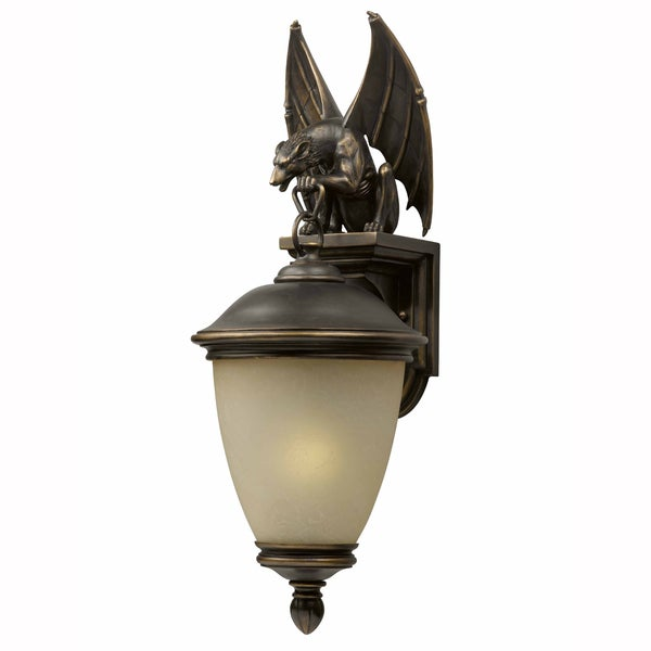 Gargoyle 1 light Oil rubbed Bronze Outdoor Wall Light