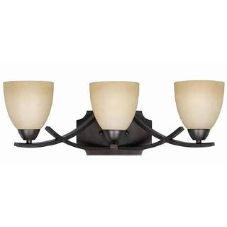 Transitional 3-light English Bronze Bath Vanity Light Fixture