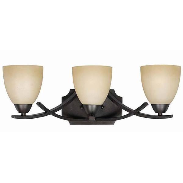 transitional 3 light english bronze bath vanity light fixture