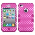 BasAcc Vintage Heart Dots/ Hot Pink TUFF Case for Apple iPhone 4/ 4S