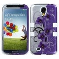 BasAcc Twilight Petunias/ Solid White TUFF Case for Samsung Galaxy S4
