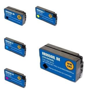 INSTEN HP 950XL 5-ink Cartridge Set (Remanufactured)