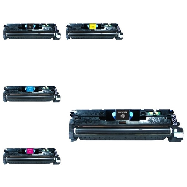 INSTEN HP C9700A/ Q3960A/ CLJ1500 5-ink Cartridge Set