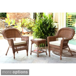 3-piece Honey Wicker Bistro Set