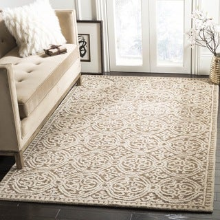 Safavieh Handmade Moroccan Cambridge Tan Wool Rug (4' Square)