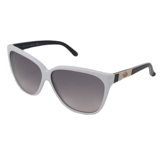 Gucci Women's GG3539 Cat-Eye White-Black/Gray Sunglasses