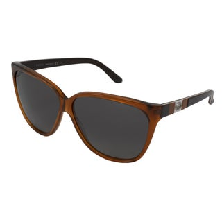 Gucci Women's GG3539 Cat-Eye Orange-Brown/Brown Sunglasses