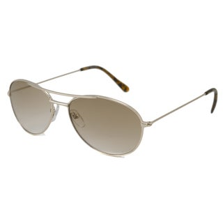 Urban Eyes Women's UE464 Gold-and-Brown Aviator Sunglasses