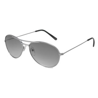 Urban Eyes Women's UE464 Silver-and-Gray Aviator Sunglasses