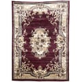 Burgundy Oriental Design Area Rug (5' x 7')