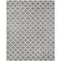 Safavieh Handmade Moroccan Chatham Dark Grey/ Ivory Wool Rug (11' x 15')