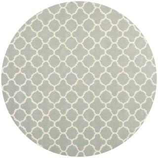 Safavieh Handmade Moroccan Chatham Grey/ Ivory Wool Rug (9' Round)