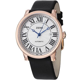 Zeno Men's 98209-PGR-I2 'Roman Art Deco' Silver Dial Rose Goldtone Automatic Watch
