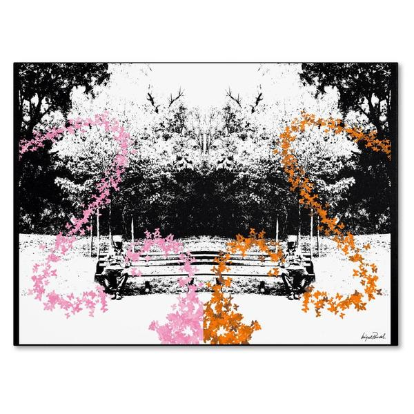 Miguel Paredes 'Pink and Orange Butterflies' Canvas Art 11755859