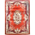 Sculpture Rust Oriental Design Area Rug (5' x 7')