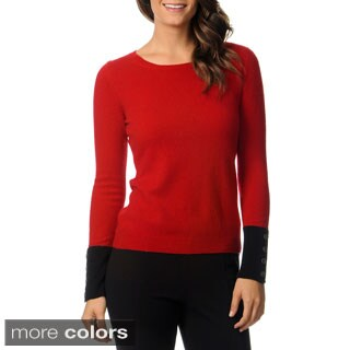 Ply Cashmere Women's Long Sleeve Crew Neck Pullover Sweater