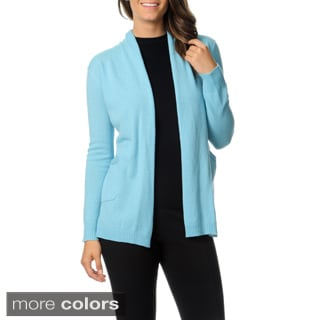 Ply Cashmere Women's Long Sleeve Draped Cardigan