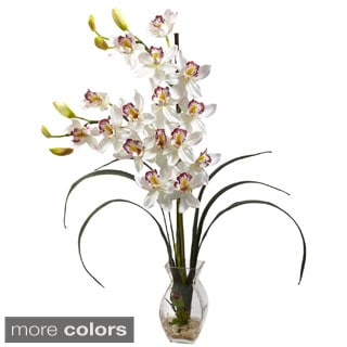 Cymbidium Orchid and Vase Floral Arrangement