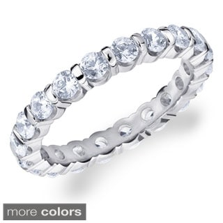14k White Gold 1 1/2ct TDW Round Diamond Eternity Band (H-I, I1-I2)