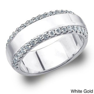 14k Gold 1/2ct TDW Machine-set Diamond Anniversary Band (H-I, I1-I2)
